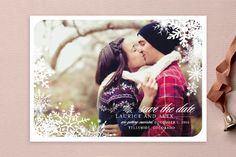 Snowflake Window Save the Date Cards by stacey day at minted.com