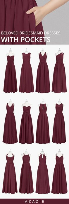 Bridesmaid Dresses You know what can make you feel spectacular at a wedding party? A stunning bridesmaid dress. The hidden secret is that it has pockets! Choose from different styles and fabrics at Azazie! Bridesmaids And Groomsmen, Wedding Bridesmaid Dresses, Wedding Attire, Prom Dresses, Short Dresses, Burgundy Bridesmaid Dresses, Azazie Bridesmaid Dresses, Bridesmaid Ideas, Wedding Party Dresses