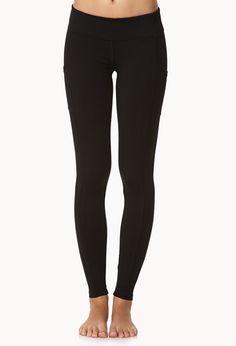 Side-Pocket Skinny Workout Leggings   FOREVER21 - 2000051667