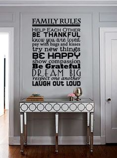 Family Rules Vinyl Wall Art by designstudiosigns on Etsy, $39.50