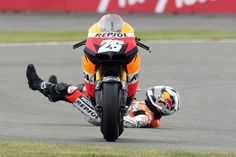 Pedrosa , His bike seems to know what to do !!!!!