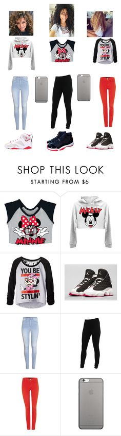 """"" by l215 ❤ liked on Polyvore featuring Disney, Retrò, H&M, Miraclebody Jeans by Miraclesuit, J Brand and Native Union"