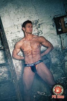 Kirill Dowidoff models the Addicted tricolor jockstrap in black, very nice indeed www.VOCLA.com