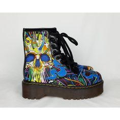 Psychedelic Skull Shoes Boho Shoes Hippy Boots Funky Boots Psy Trance... ($55) ❤ liked on Polyvore featuring shoes, grey, women's shoes, gray wedge shoes, high heel shoes, gray shoes, grey shoes and gray high heel shoes