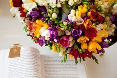 Freesia (?) bouquet.