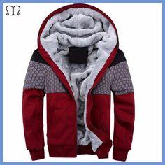 European Fashion Bomber Mens Vintage Thickening Fleece Jacket Autumn Winter Designer Famous Brand Male Slim Fit Warm Coat 2016