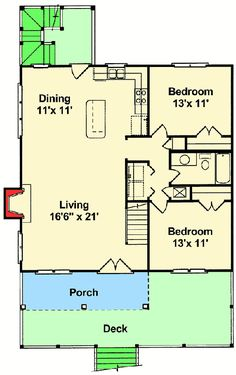 Beach Home Plan Perfection - 60050RC floor plan - Main Level