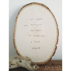 diy hand stamped tree slice....what to do with all those wood slices after the wedding.