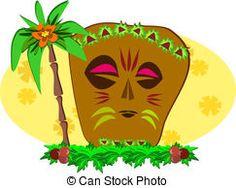 Decorative Tiki and Palm Tree - Here is a powerful Tiki...