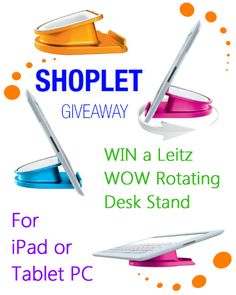 #WIN a Leitz WOW Rotating Desk Stand for your Tablet! To enter: Repin, then go to our blog and comment letting us know what which colour you want the most :) *UK RESIDENTS ONLY* Good luck!