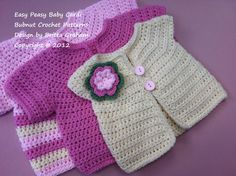 Crochet Baby Cardigan Pattern - THREE sizes for you to make - Crochet Pattern No.907 Emailed2U. $3.99, via Etsy.