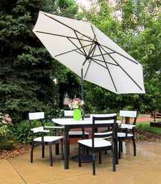 Amish Golden Gate Poly Table with 4 Bridgeport Arm Chairs A pretty party spot is yours at the Amish Golden Gate Poly Table with 4 Bridgeport Arm Chairs. Enjoy eco-friendly poly furniture that& made with recycled plastics. Outdoor Lounge Furniture, Outdoor Seating, Outdoor Decor, Dining Furniture, Outdoor Dining, Outdoor Umbrella, Patio Umbrellas, Patio Privacy, Patio Table
