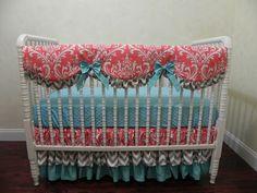 Baby Bedding Crib Set Priscilla New! : Just Baby Designs, Custom Baby Bedding Custom Crib Bedding Custom Nursery Bedding