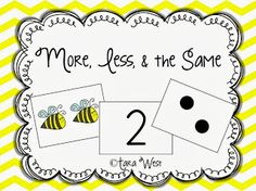FREEBIE More, less, & the same. Math number sense activity!