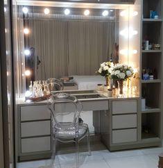 47 ideas walk in closet office ideas home Bedroom Closet Design, Girl Bedroom Designs, Home Decor Bedroom, Bedroom Dressing Table, Dressing Table Design, Sala Glam, Glam Room, Beauty Room, Dream Rooms