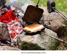 Campfire Pies - Everyone who camps needs one of these....we make pies, pocket pizzas, grilled cheese sandwiches.....Love ours!