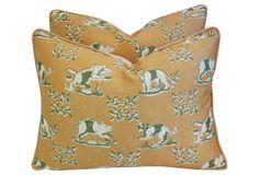 Scalamandré Medici Pillows, Pair