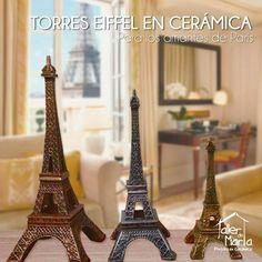 Detalles que le dan estilo a tu hogar!! Para los amantes de París, torres Eiffel para todos los gustos...