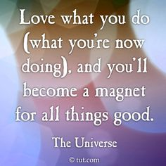 LOVE what you DO notes from the universe TUT