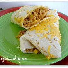 Ground Chicken and Bean Burritos - These were simple, easy and delicious - 09/16/13
