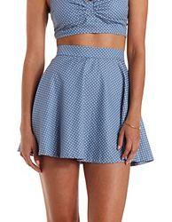 Skater Skirt, Flirty Skirts, Crochet Mini Skirt, Black Lace Skirt, : Charlotte Russe