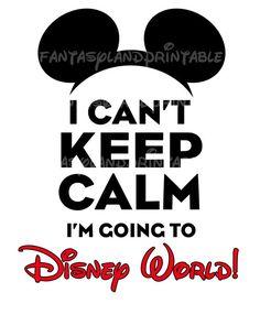 INSTANT DOWNLOAD Keep Calm Mickey Disney World Disney Mouse Print at Home DIY Printable Iron Transfer Shirt  Run Goofy Race