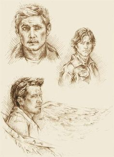 More SPN scetches by Ginger-snuffkin.deviantart.com