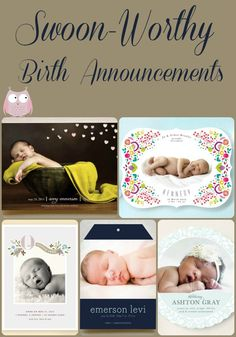 Prettiest birth announcements I have yet to see! From minted.com via @Stuff Parents Need