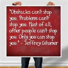 "Only you can stop you"" - Jeffrey Gitomer #lawofattraction #quotes"