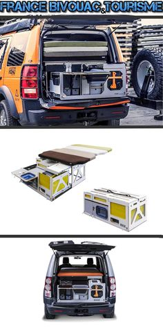 Camping box Nestbox: Travel box to place in the trunk, and transforms your vehicle van, MPV, bivouac-car or mini camper. Land Rover Discovery Boot arrangement for sleeping and self-driving. Kangoo Camper, Suv Camper, Mini Camper, Camper Van, Land Rover Discovery, Jeep 4x4, Jeep Cars, Jeep Pickup, Truck Tent Camping