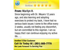 Since beginning with Dr. Meyers 12 years ago, and also learning and adopting exercises...