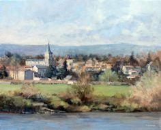 Nervieux (Loire) - Huile sur Toile - 46 x 38 cm (8F)
