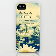 Poetic Life iPhone & iPod Case by Olivia Joy StClaire - $35.00 case, samsung case, accessory, phone accessory, retro, flowers, daisies, typography, quote, phone case, for her, dreamy