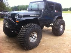jeep yj - need tires like this ... and a snorkel!