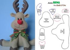 Felt Christmas Decorations, Christmas Wood, Christmas Crafts For Kids, Xmas Crafts, Diy Christmas Ornaments, Christmas Projects, Christmas Time, Diy And Crafts, Felt Doll Patterns