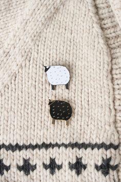 Sheep enamel pins
