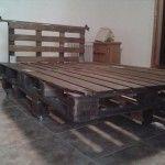 DIY Platform Pallet Bed with Headboard