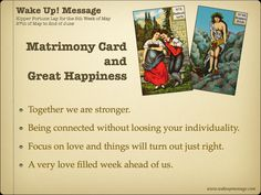 """Kipper Fortune Lay for the Week of May of May to of June No more """"video"""". now just an image ;) A very love filled week ahead of us! We Are Strong, Wake Up, June, Messages, Cards, Image, Maps, Text Posts"""