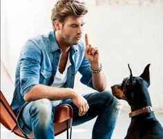 Kivanc Tatlitug in Mavi Jeans campaign Turkish Men, Turkish Beauty, Turkish Actors, Most Beautiful Animals, Most Beautiful Man, Travis Fimmel, Kurt Seyit And Sura, Michael Malarkey, Man And Dog
