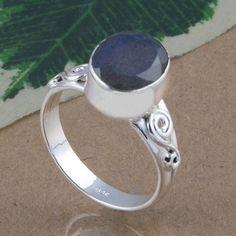 925 SOLID STERLING SILVER EXCLUSIVE LABRADORITE CUT FANCY RING 3.70g DJR3038 #Handmade #Ring