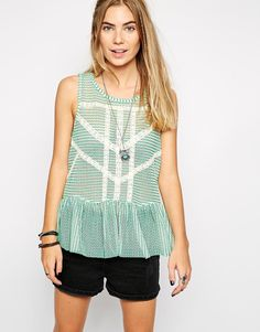 Image 1 ofFree People Lace Stripe Top