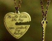He Who Holds The Key.. 2 necklace set. $26.00, via Etsy.