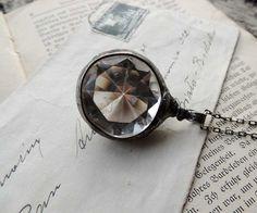 diamond quartz necklace NOSTALGIC necklace Crystal by MARIAELA