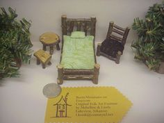 Half Inch Scale 6 piece Set Rustic Miniature by RusticMiniatures, $23.99