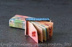 Papieren Avonturen: accordion book in a matchbox