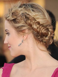 We want Dianna Agron's plaits!