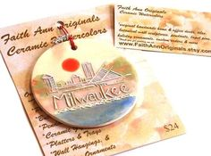 MILWAUKEE SKYLINE original design ceramic by FaithAnnOriginals, $24.00