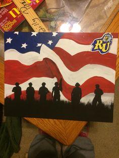 Reinhardt University Army Canvas Painting