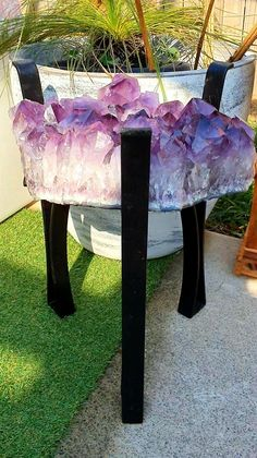 LARGE A-GRADE AMETHYST CLUSTER TABLE- NEW CONDITION Amethyst Cluster, Outdoor Furniture, Outdoor Decor, Conditioner, Table, Home Decor, Decoration Home, Room Decor, Tables