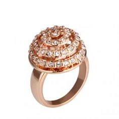 Dome 18 Karat Gold Plated Ring